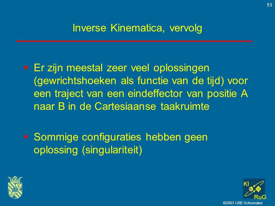Inverse Kinematica, vervolg