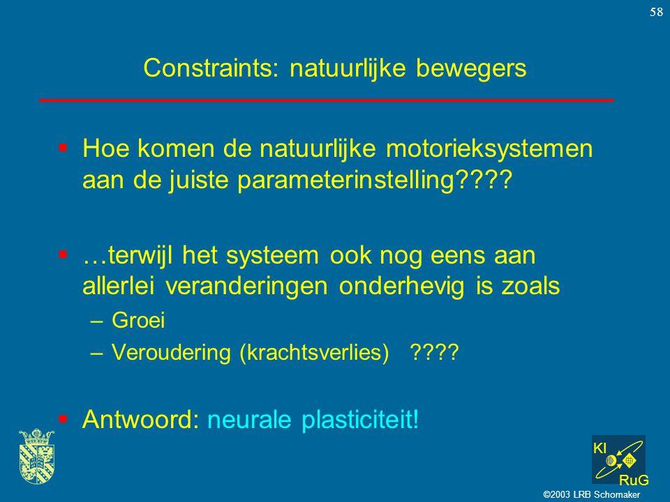 Constraints: natuurlijke bewegers