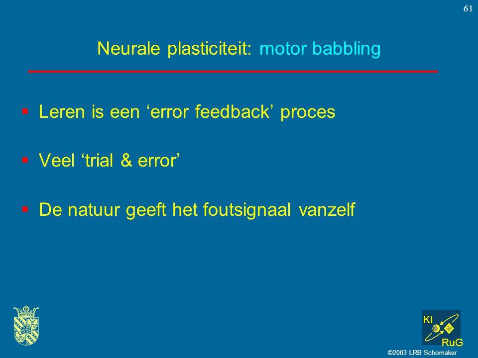 Neurale plasticiteit: motor babbling