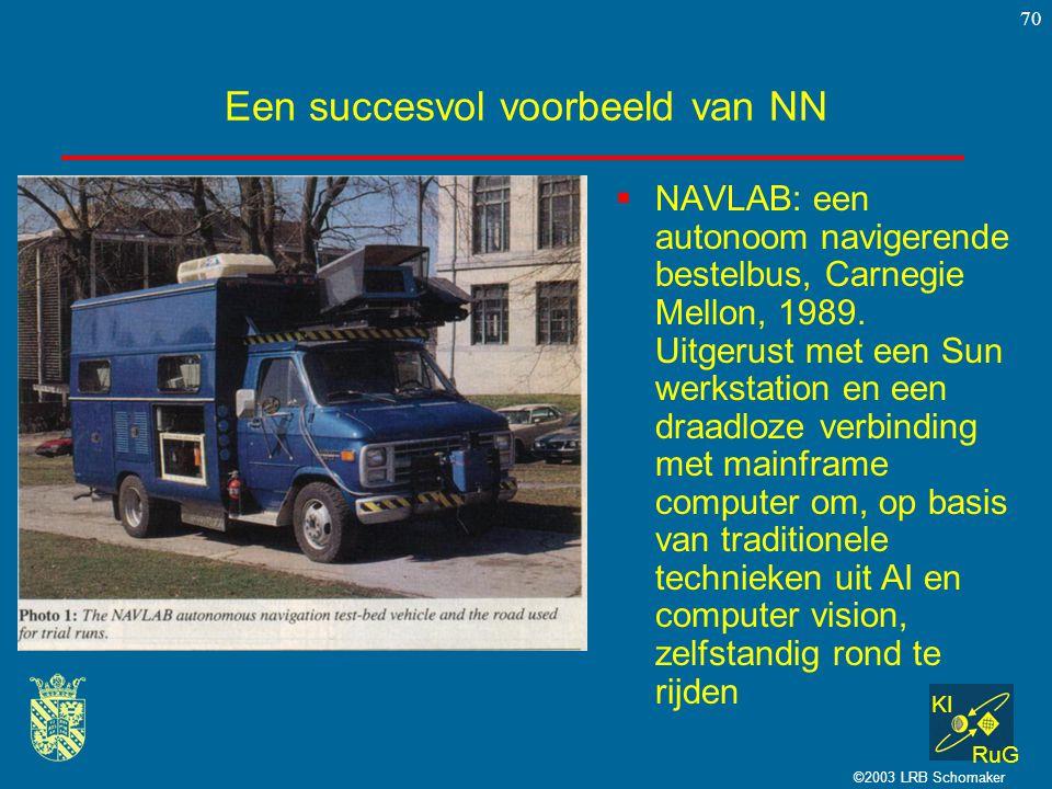Een succesvol voorbeeld van NN
