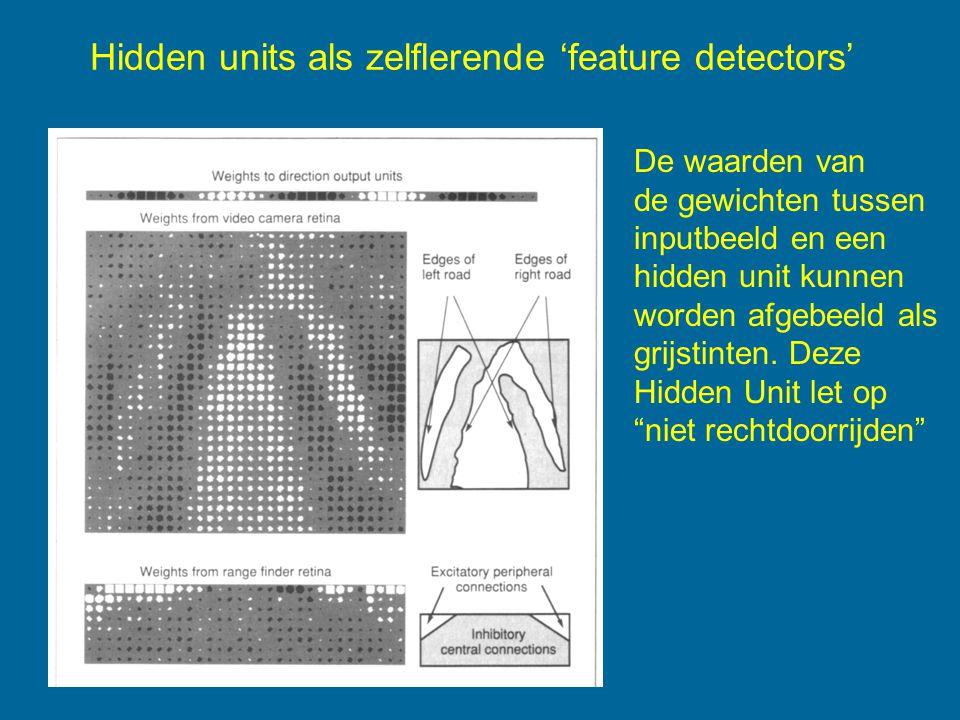 Hidden units als zelflerende 'feature detectors'