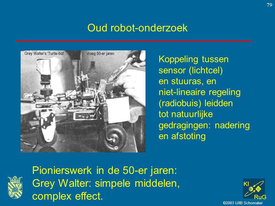 Pionierswerk in de 50-er jaren: Grey Walter: simpele middelen,