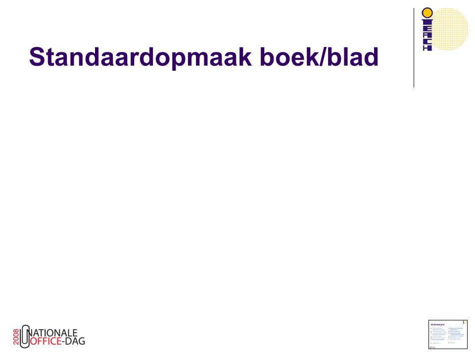 Standaardopmaak boek/blad