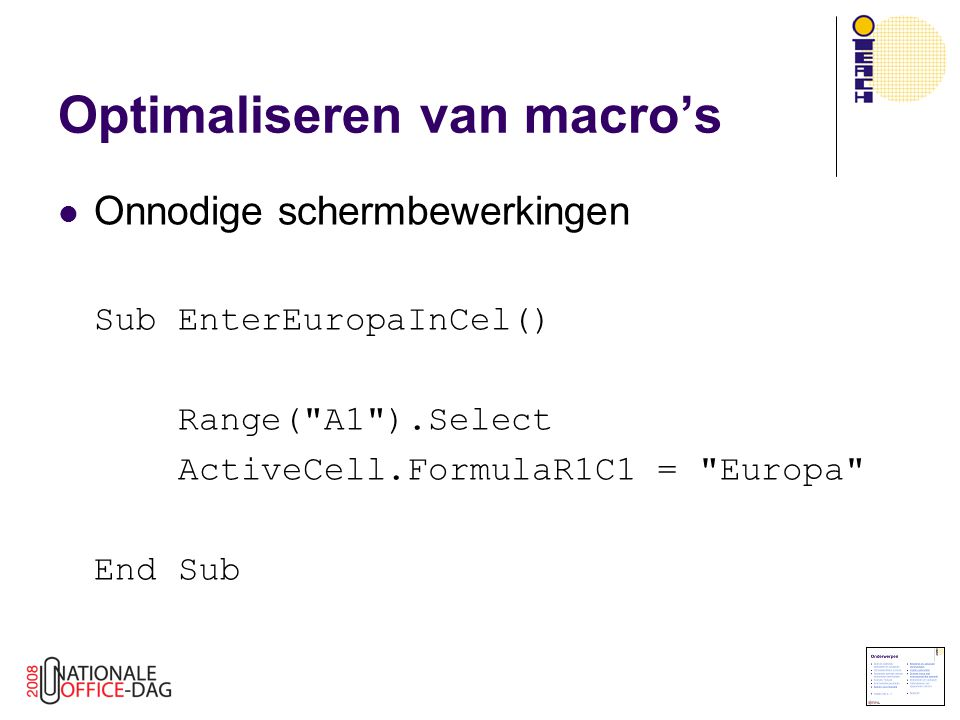 Optimaliseren van macro's