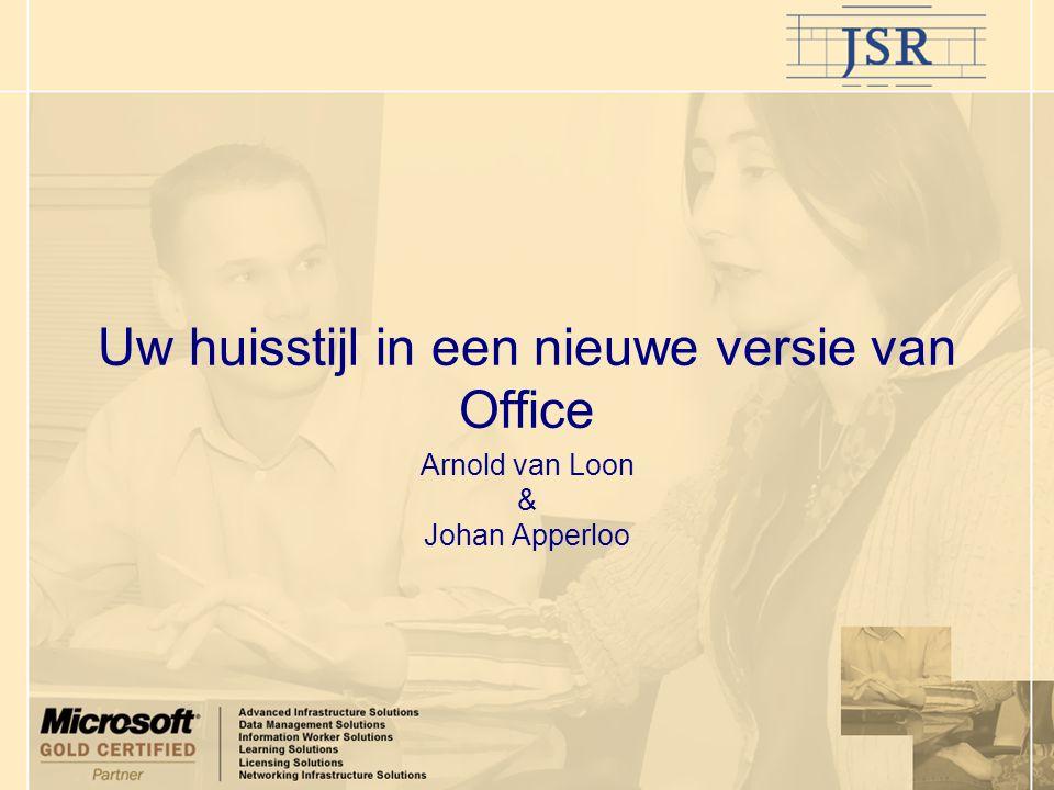 Uw huisstijl in een nieuwe versie van Office