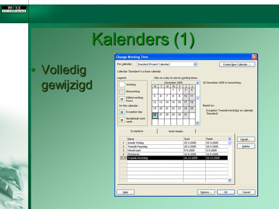 Kalenders (1) Volledig gewijzigd