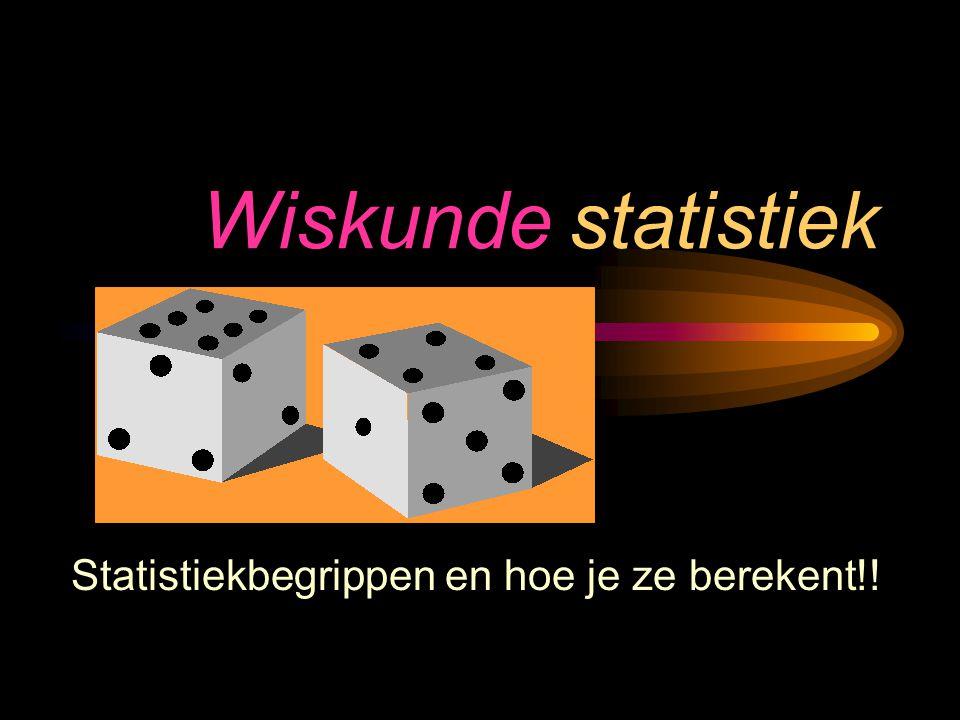 Statistiekbegrippen en hoe je ze berekent!!