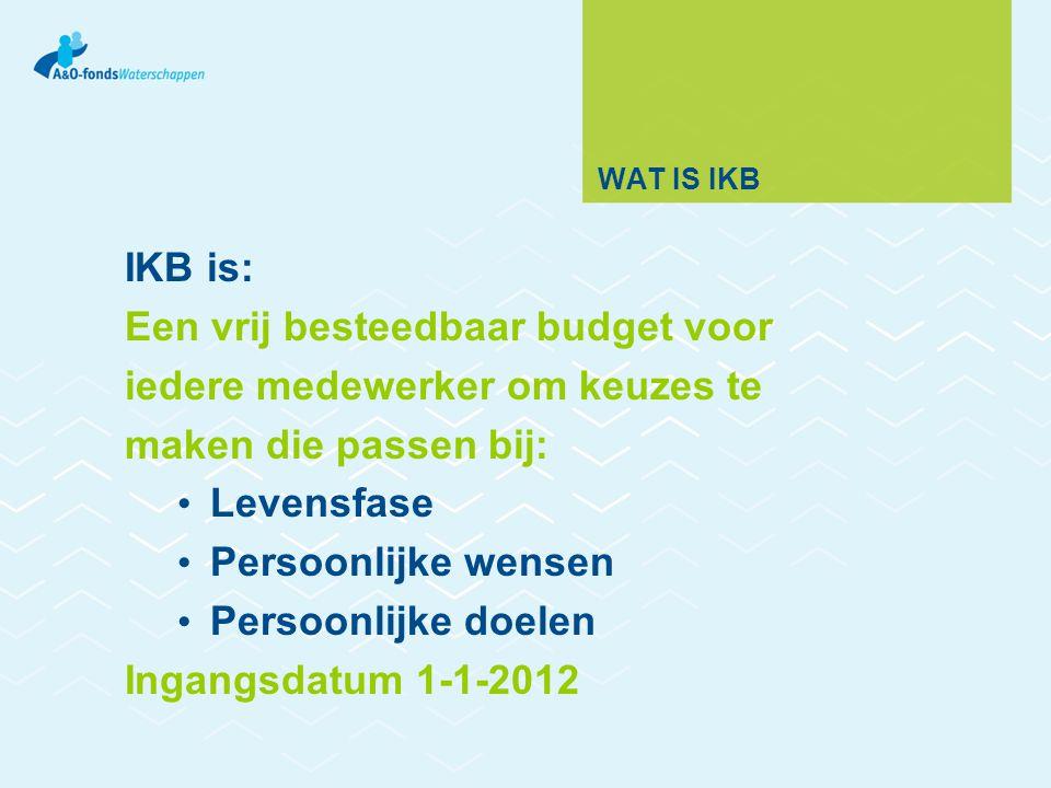 Een vrij besteedbaar budget voor iedere medewerker om keuzes te