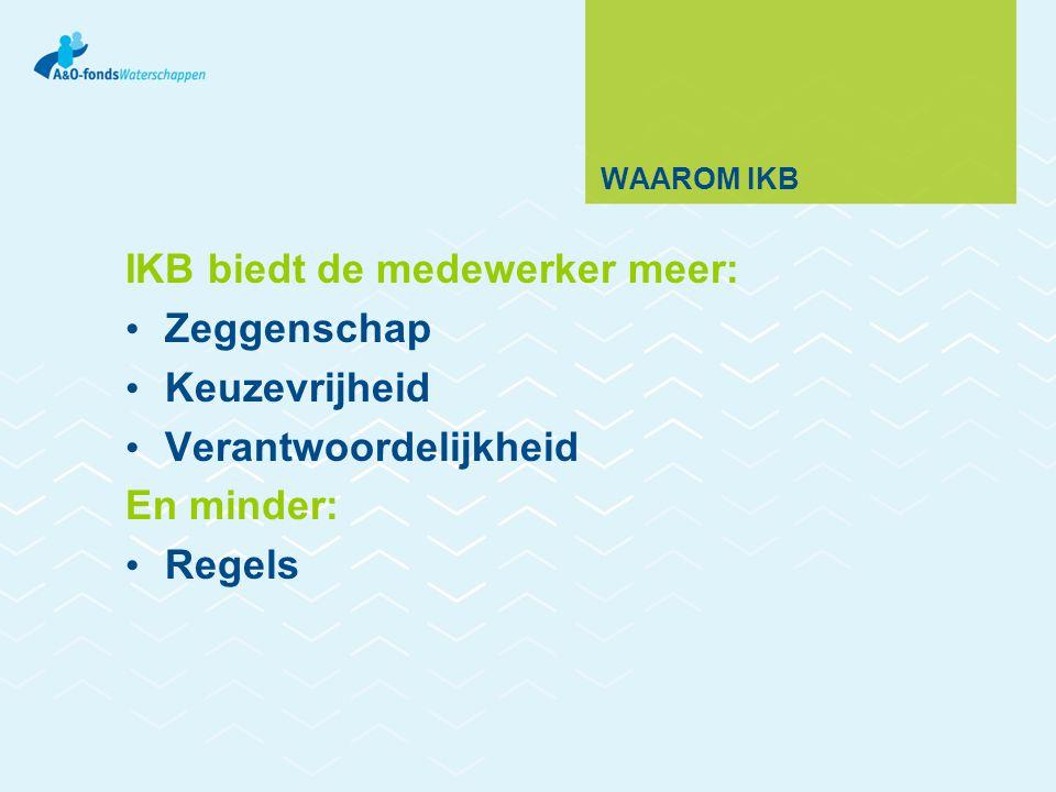 IKB biedt de medewerker meer: Zeggenschap Keuzevrijheid
