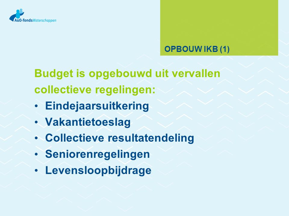 Budget is opgebouwd uit vervallen collectieve regelingen: