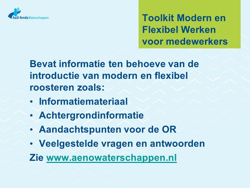 Toolkit Modern en Flexibel Werken voor medewerkers