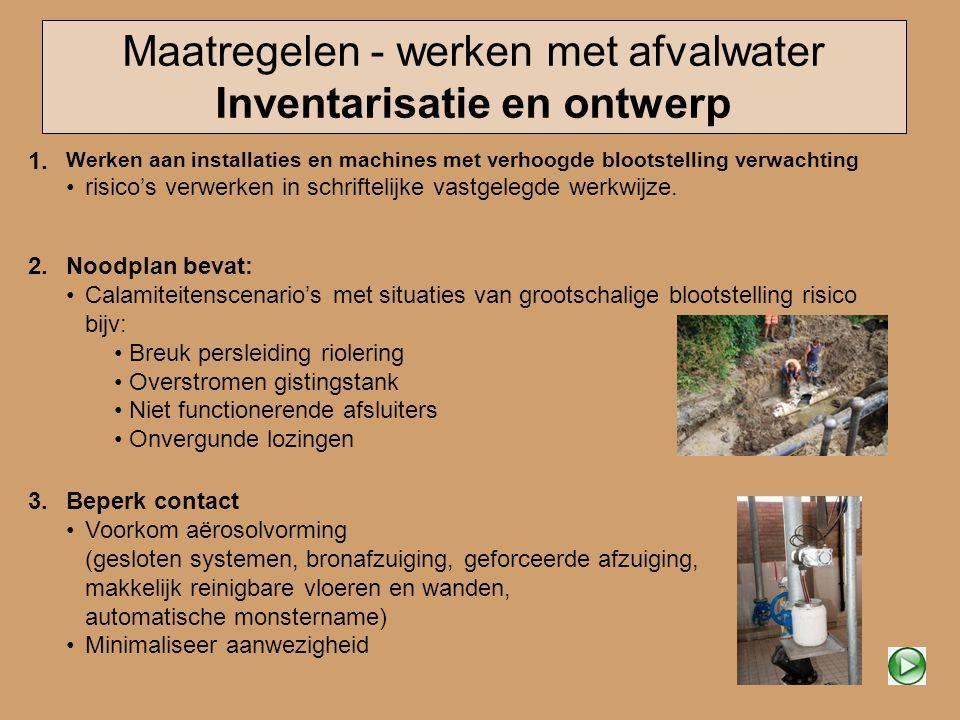 Maatregelen - werken met afvalwater Inventarisatie en ontwerp