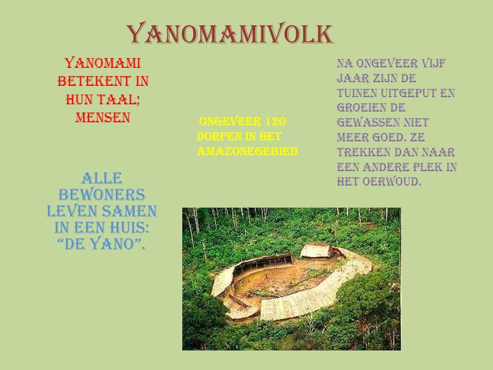 Yanomami betekent in hun taal; mensen