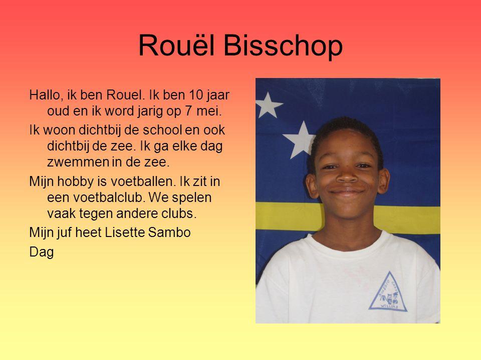 Rouël Bisschop Hallo, ik ben Rouel. Ik ben 10 jaar oud en ik word jarig op 7 mei.