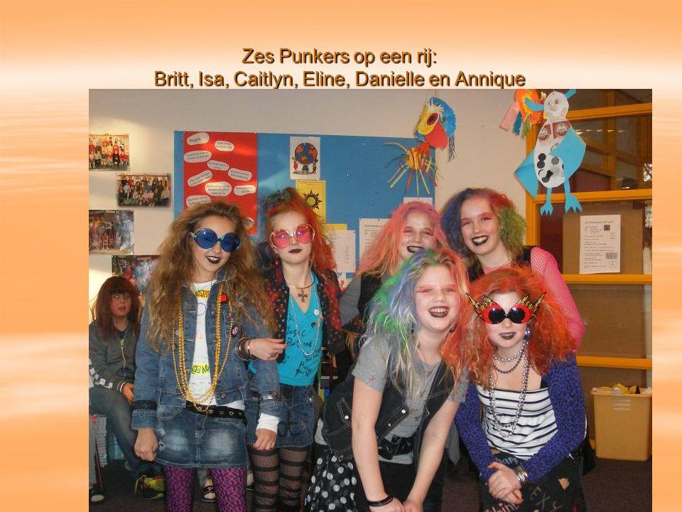 Zes Punkers op een rij: Britt, Isa, Caitlyn, Eline, Danielle en Annique