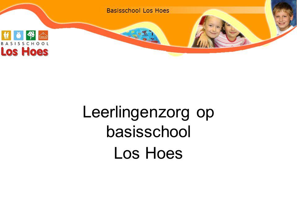 Leerlingenzorg op basisschool Los Hoes