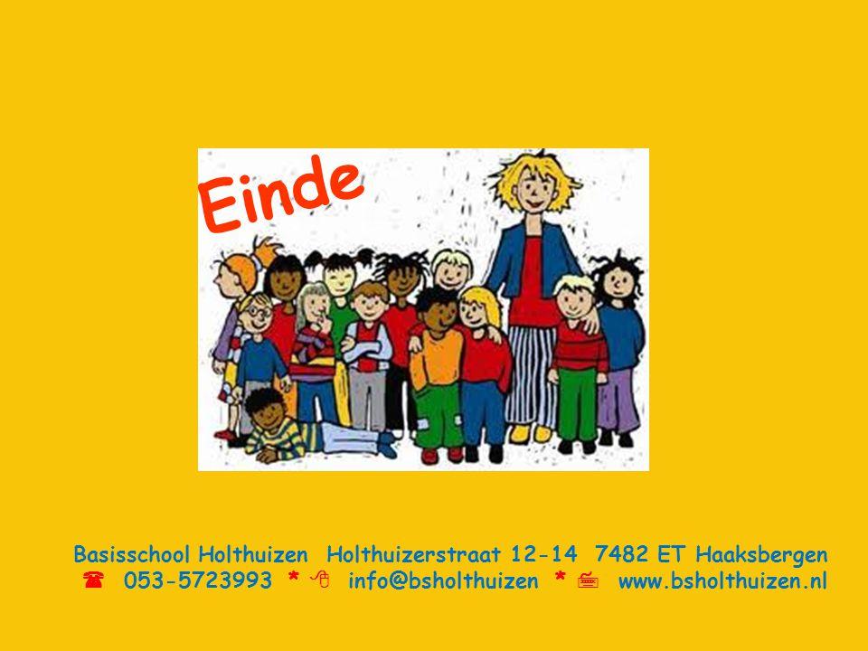 Einde Basisschool Holthuizen Holthuizerstraat 12-14 7482 ET Haaksbergen.