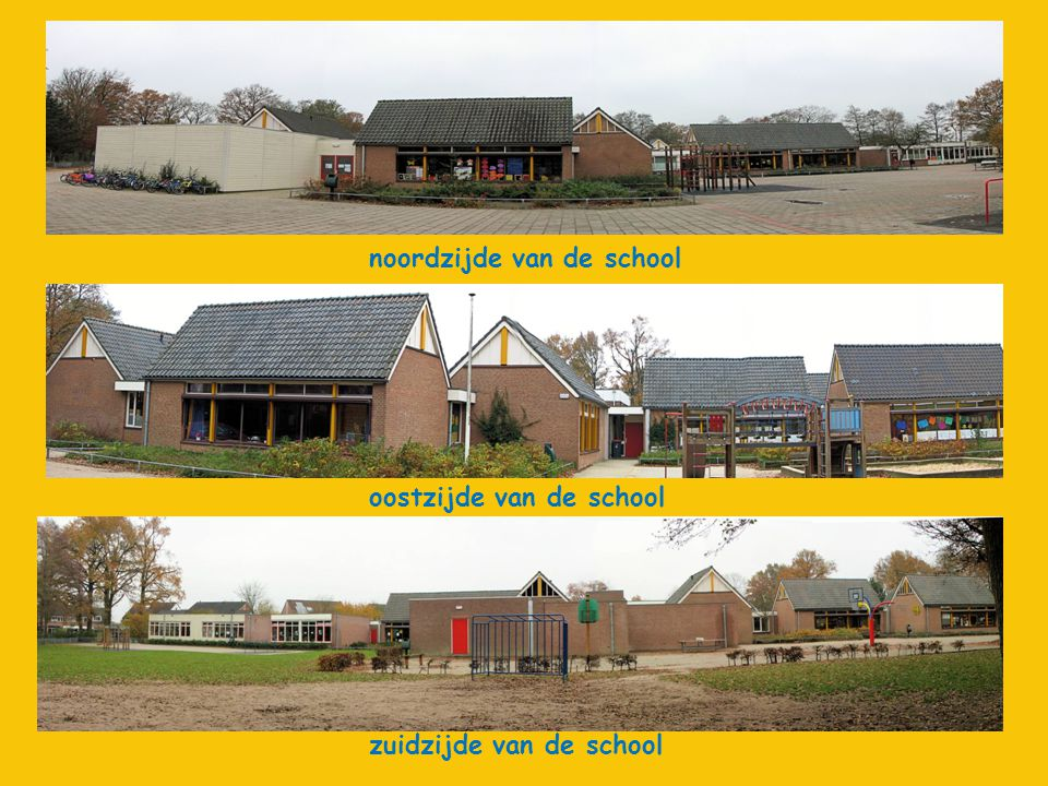 noordzijde van de school