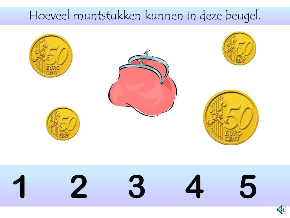 Hoeveel muntstukken kunnen in deze beugel.