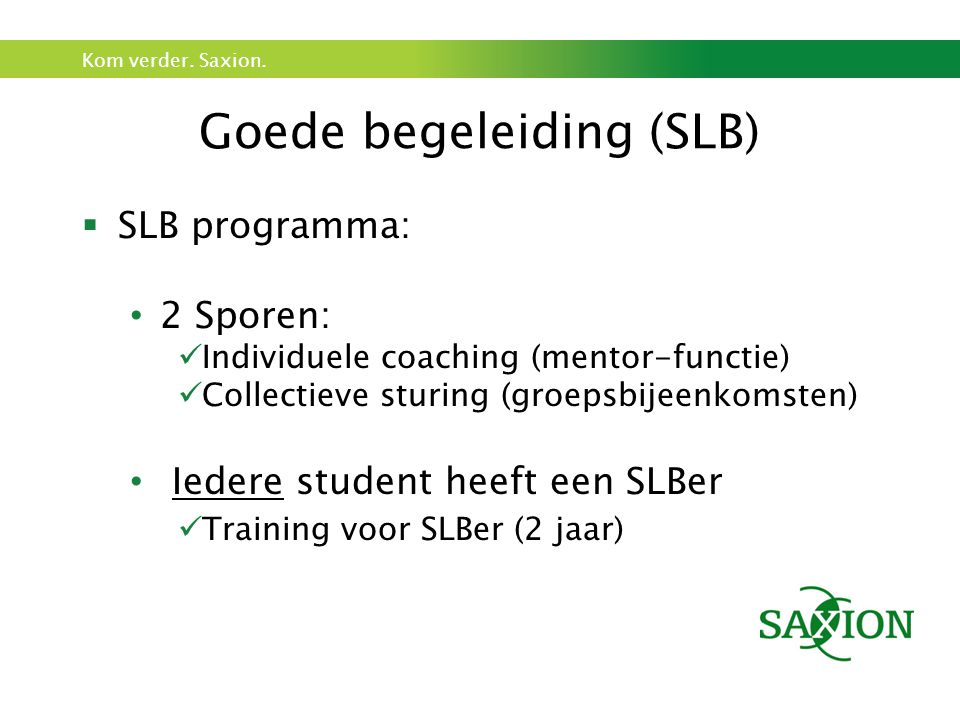 Goede begeleiding (SLB)