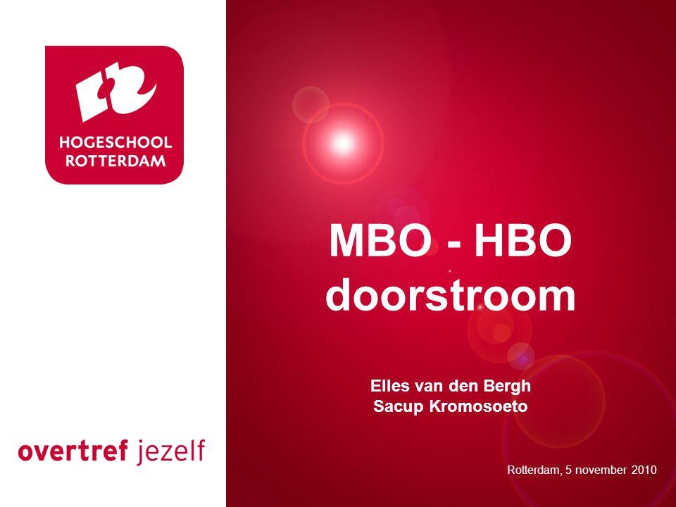 MBO - HBO doorstroom Presentatie titel