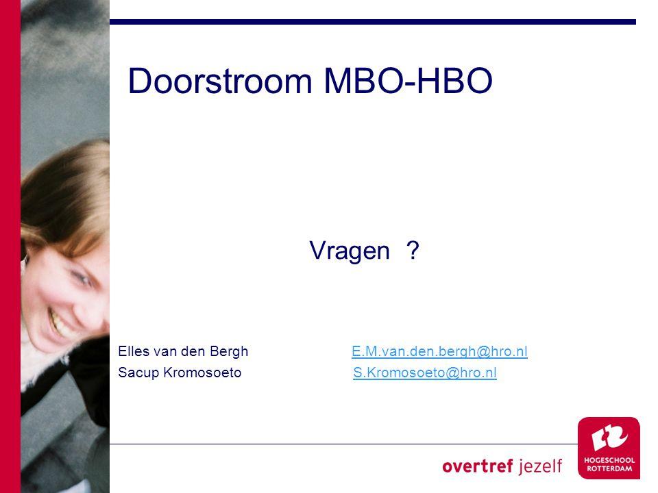 Doorstroom MBO-HBO Vragen