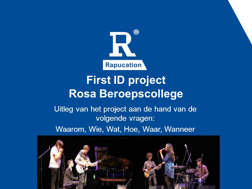 First ID project Rosa Beroepscollege
