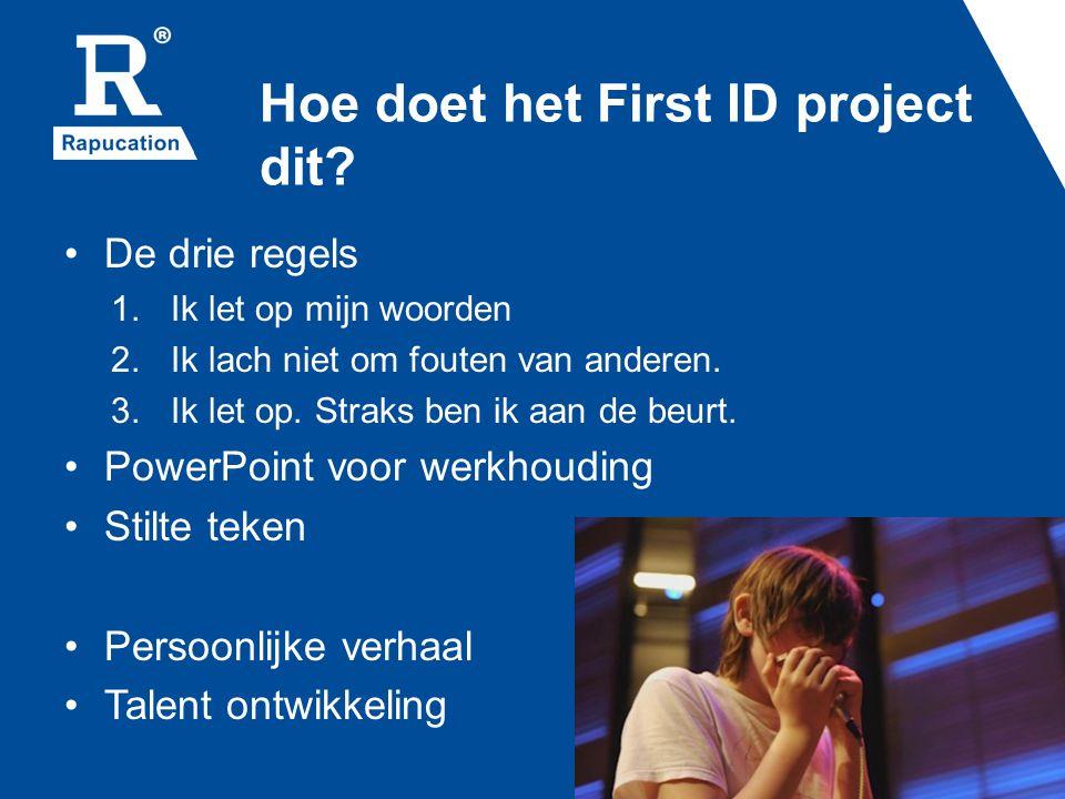 Hoe doet het First ID project dit
