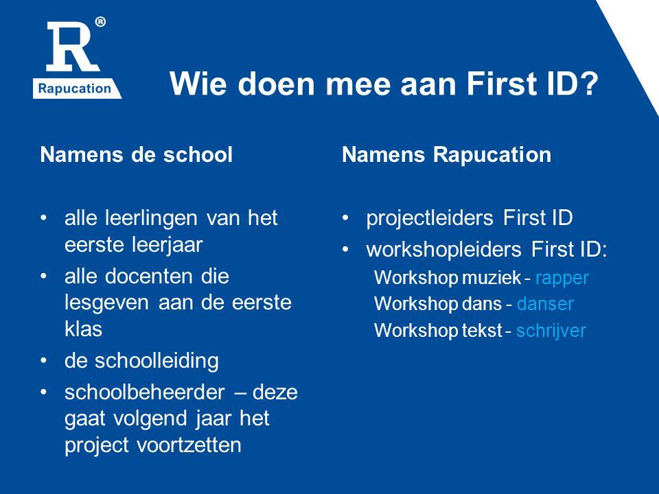 Wie doen mee aan First ID
