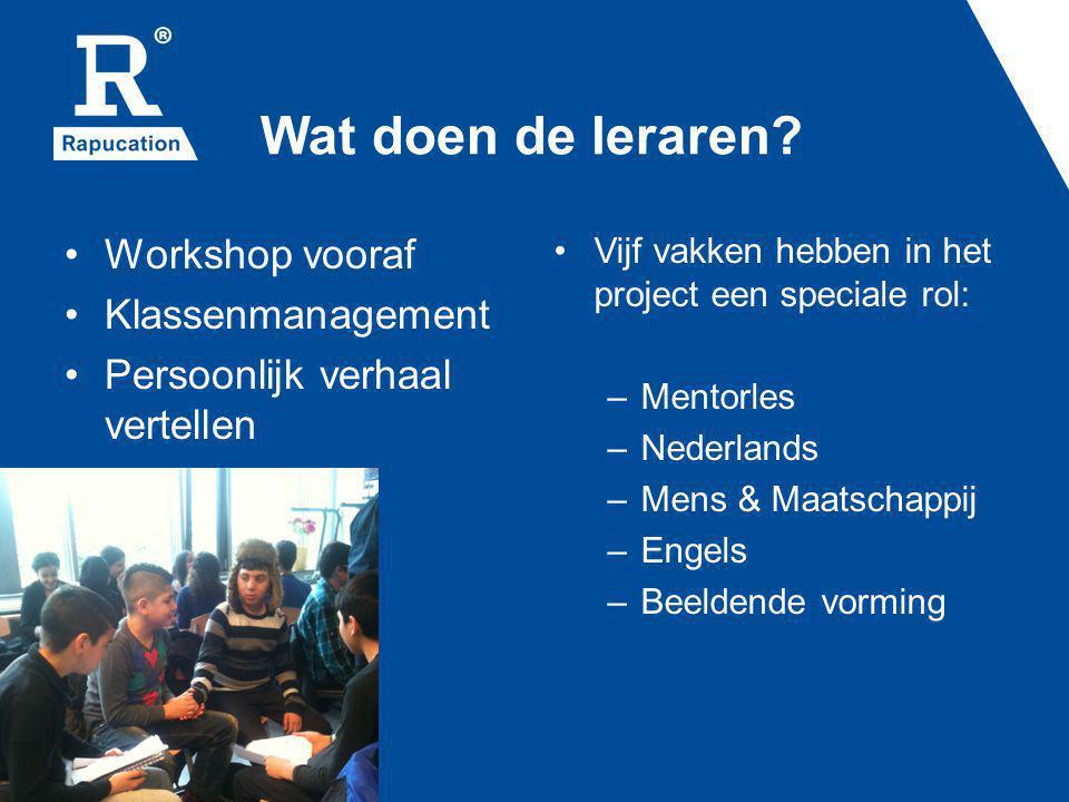 Wat doen de leraren Workshop vooraf Klassenmanagement