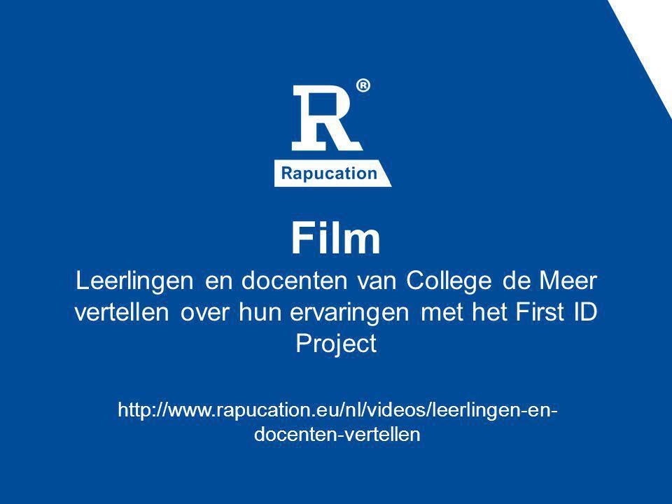 Film Leerlingen en docenten van College de Meer vertellen over hun ervaringen met het First ID Project