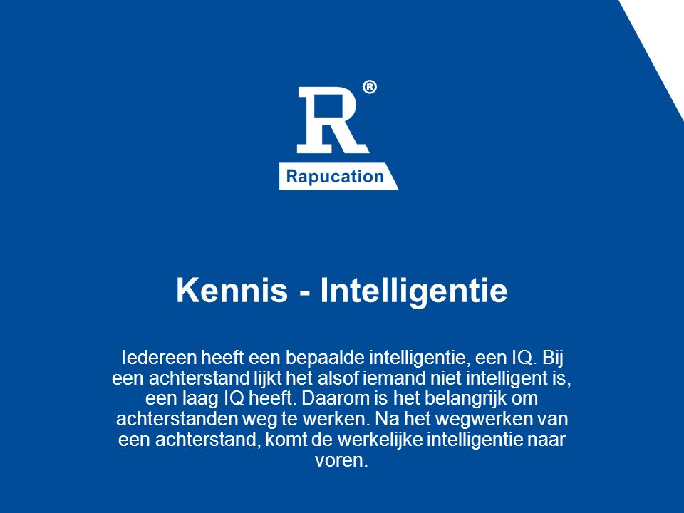 Kennis - Intelligentie