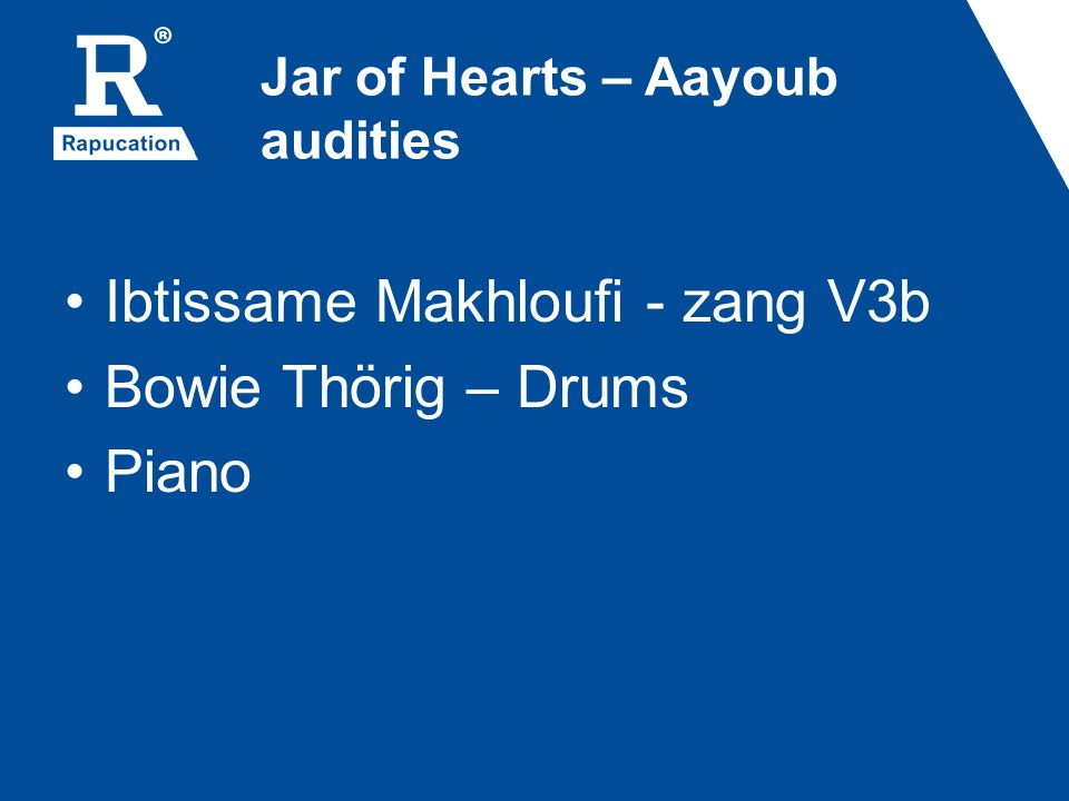 Jar of Hearts – Aayoub audities