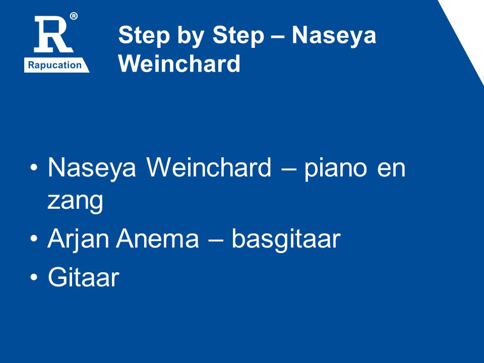 Step by Step – Naseya Weinchard
