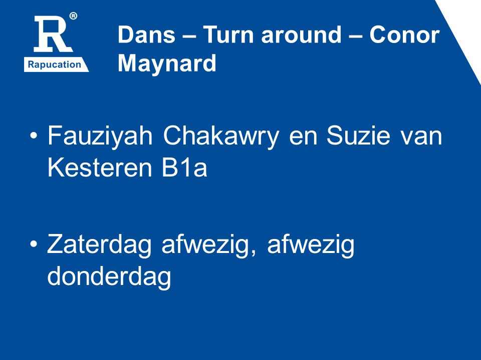 Dans – Turn around – Conor Maynard