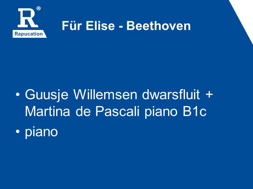 Guusje Willemsen dwarsfluit + Martina de Pascali piano B1c piano