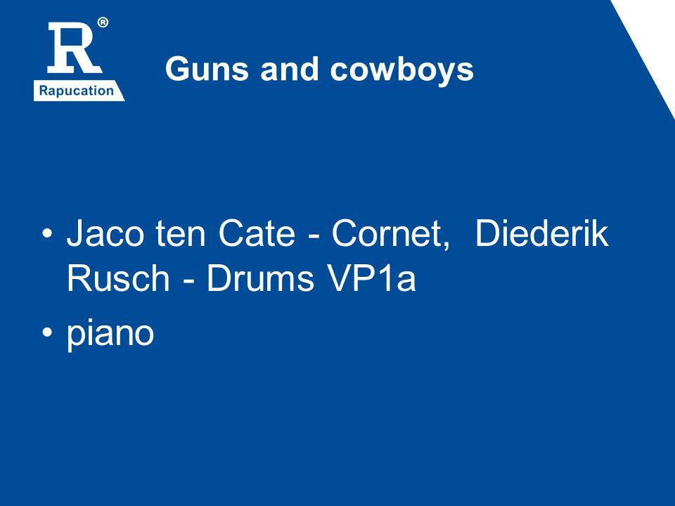 Jaco ten Cate - Cornet, Diederik Rusch - Drums VP1a piano