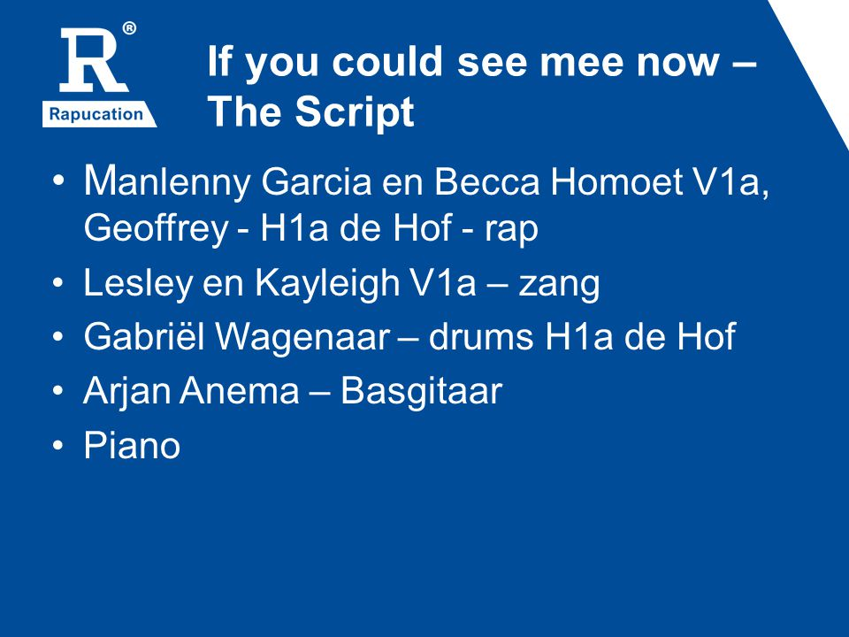 If you could see mee now – The Script