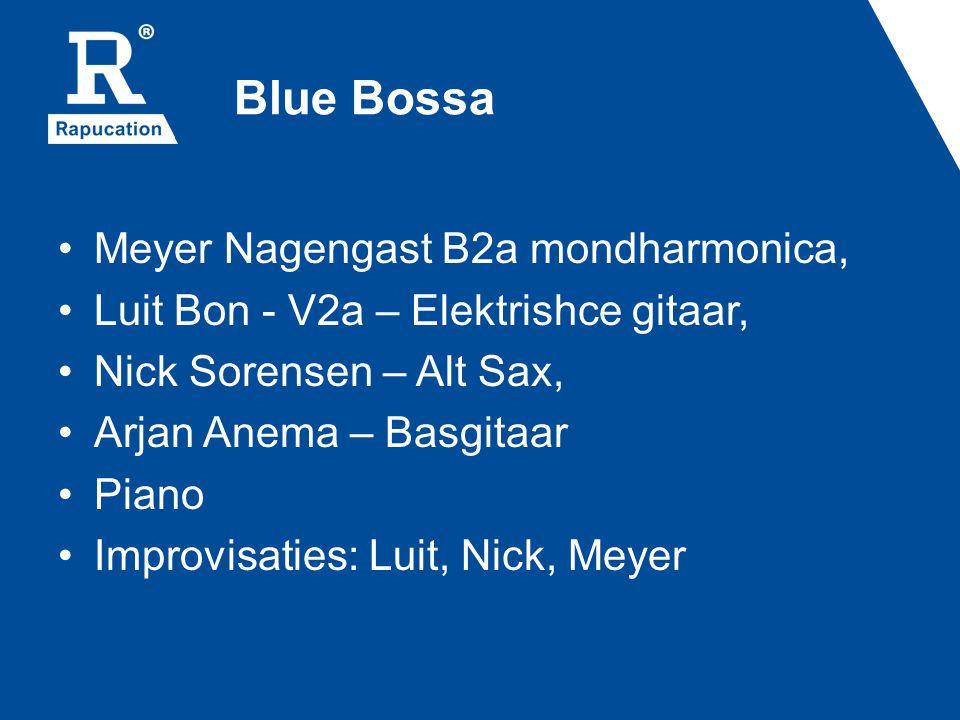 Blue Bossa Meyer Nagengast B2a mondharmonica,