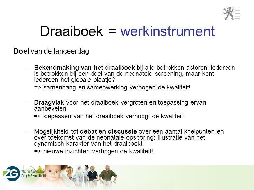 Draaiboek = werkinstrument