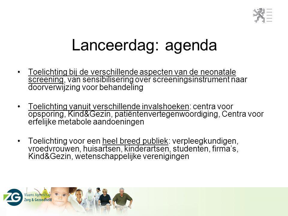 Lanceerdag: agenda