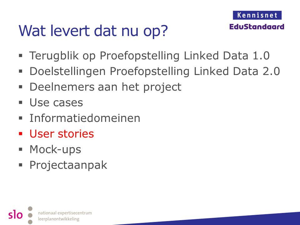 Wat levert dat nu op Terugblik op Proefopstelling Linked Data 1.0