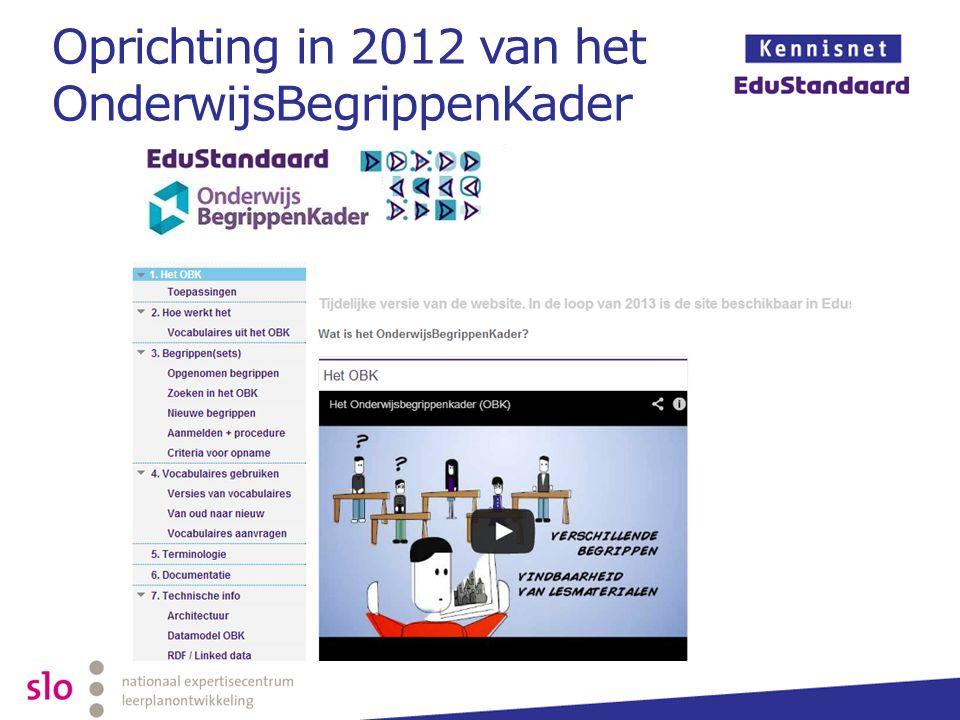 Oprichting in 2012 van het OnderwijsBegrippenKader
