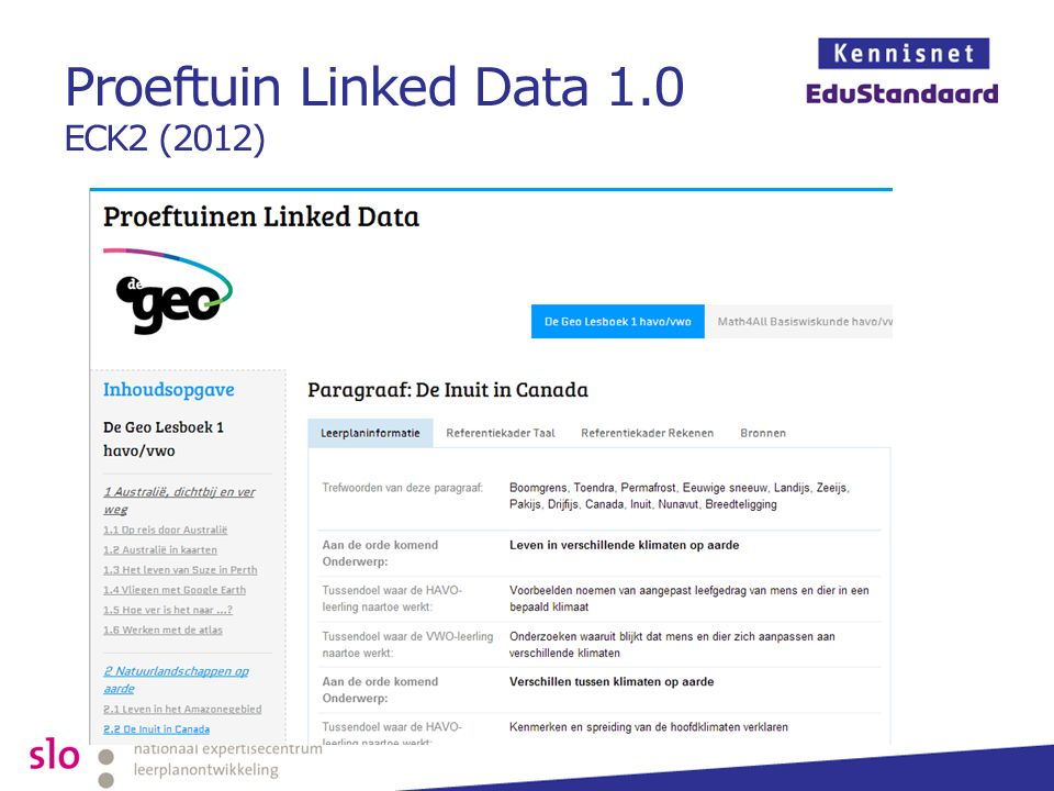 Proeftuin Linked Data 1.0 ECK2 (2012)