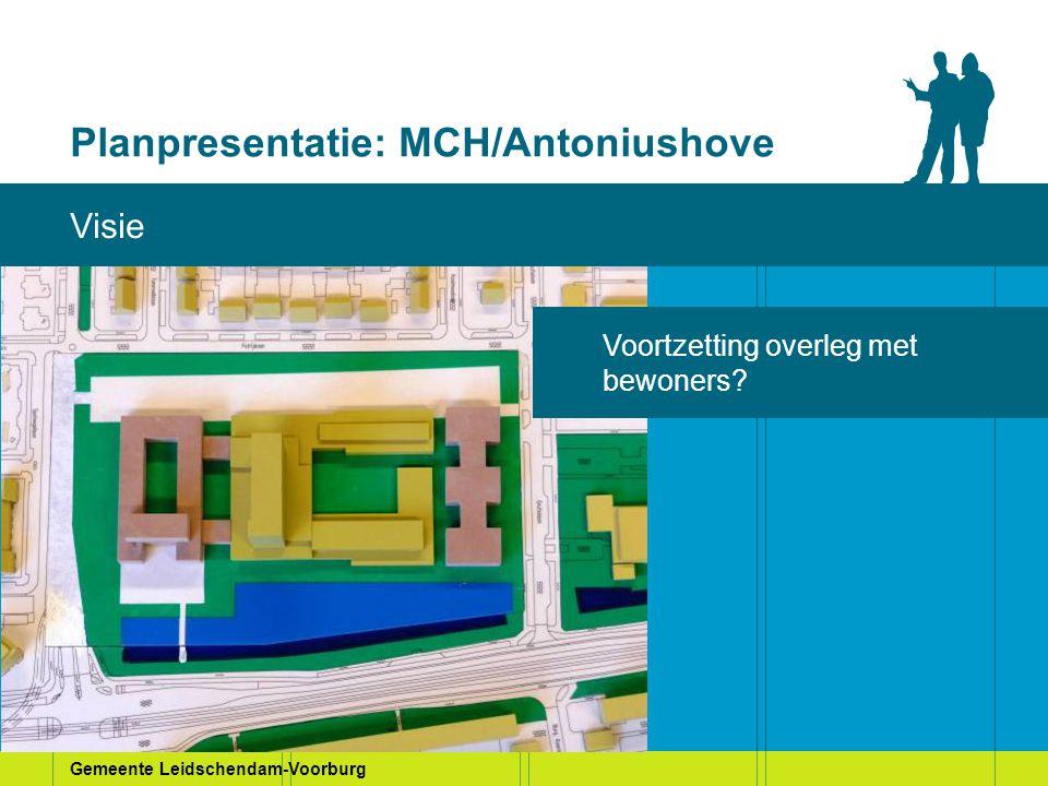 Planpresentatie: MCH/Antoniushove