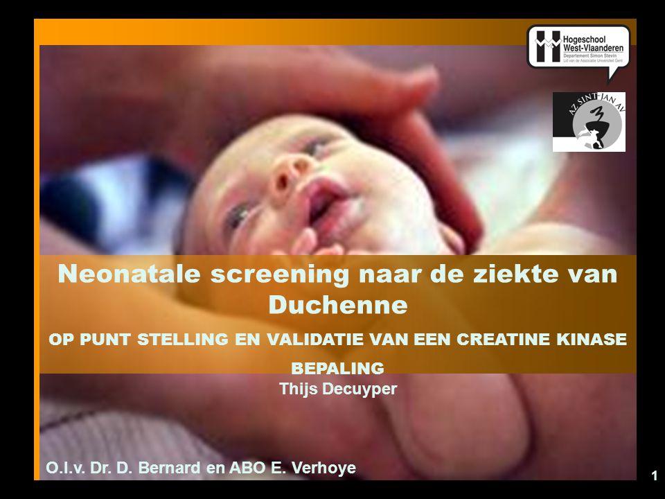 Neonatale screening naar de ziekte van Duchenne