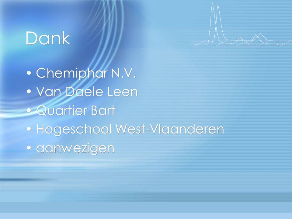 Dank Chemiphar N.V. Van Daele Leen Quartier Bart