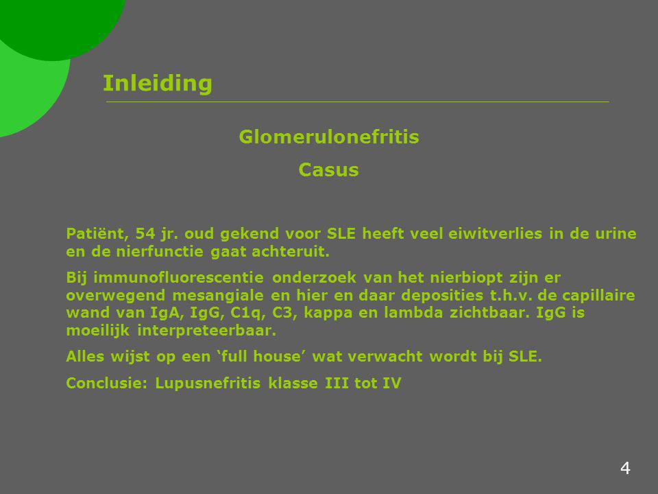 Inleiding Glomerulonefritis Casus 4