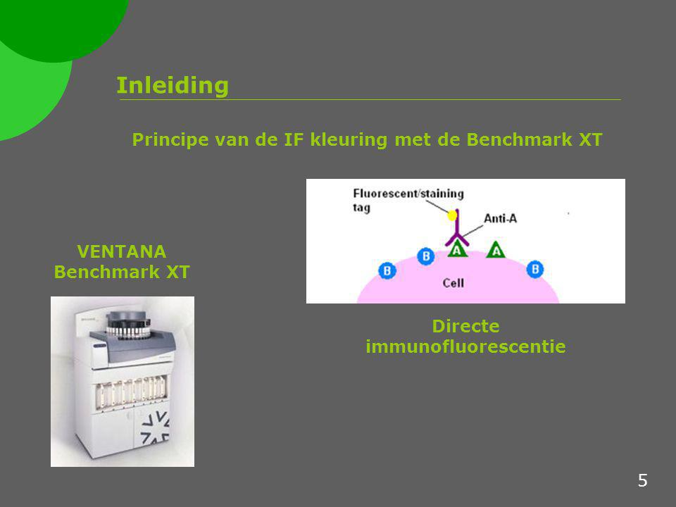 Inleiding Principe van de IF kleuring met de Benchmark XT