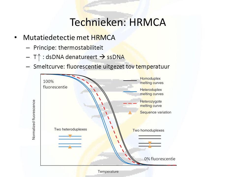 Technieken: HRMCA Mutatiedetectie met HRMCA
